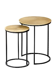 Gold Sunburst Nesting Table (Set of 2) by The Decor Remedy