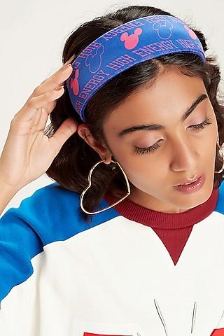Pink & Blue Disney Mickey Printed Headband by Hair Drama Company