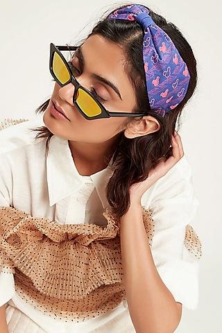 Pink & Blue Disney Mickey Printed Knotted Headband by Hair Drama Company