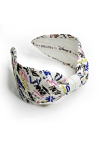 Multi Colored Disney Mickey Printed Knotted Headband by Hair Drama Company