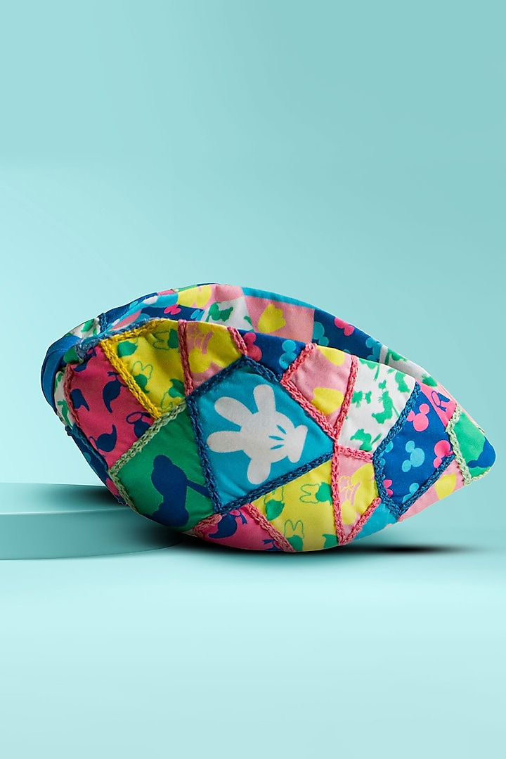 Multi Colored Embroidered & Printed Knotted Headband by Hair Drama Company