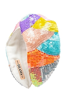 Multi Colored Embroidered Knotted Headband by Hair Drama Company