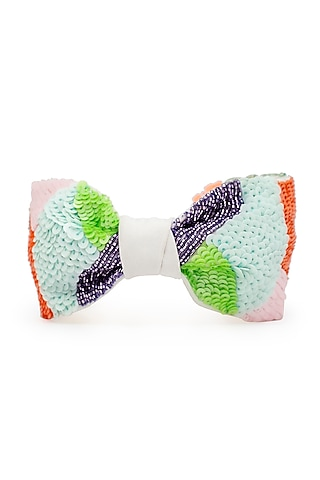 Multi Colored Knotted & Embroidered Headband by Hair Drama Company