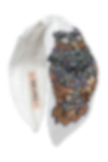 White Knotted Headband by Hair Drama Company