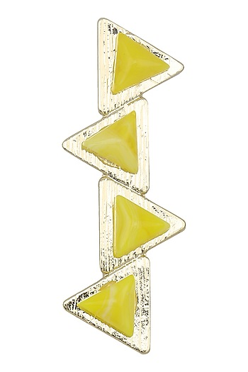 Yellow Geometric Hair Pin by Hair Drama Company