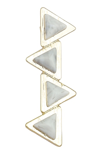 Grey Geometric Hair Pin by Hair Drama Company