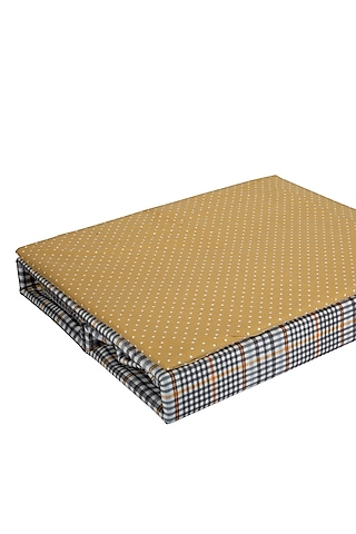 Multicolored Checkered Bedsheet Set by H2H