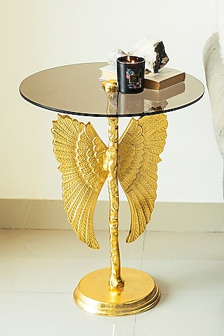 Gold Table With Angel Wings by H2H