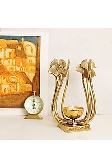 Gold Aluminium Candle Holder by H2H-HOME DECOR AS GIFTS
