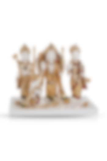 White & Gold Ram Darbar Sculpture by H2H