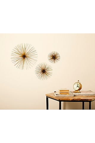 Gold Wall Sculpture (Set of 3) by H2H