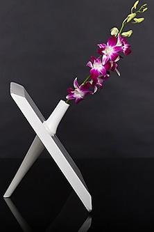 Love is Skewed White Teakwood Vase by H2H