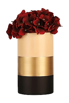 Multicolor Glass Tri Banded Vase (Tall) by H2H