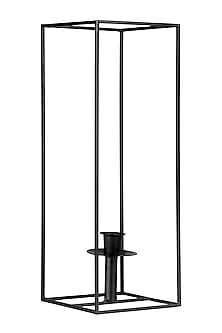 Black Iron Lilian Cuboid Candle Stand  by H2H