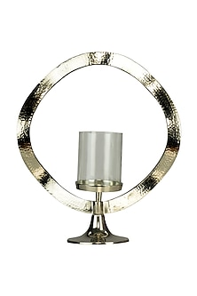 Black Aluminium Sterling Halo Candle Stand (Short) by H2H