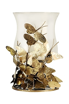 Golden Iron & Brass Butterfly Stack Candle Stand by H2H