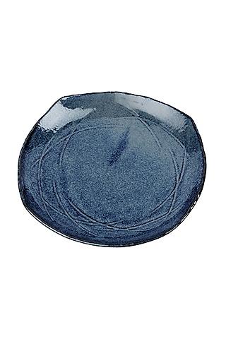 Cobalt Blue Ceramic Fat Square Plates  by H2H