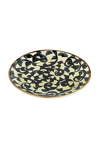 Blue & White Ceramic Garden Plate by H2H
