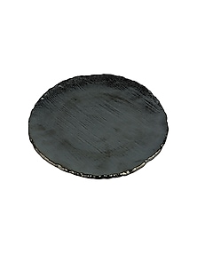 Charcoal Ceramic Flat Plate by H2H