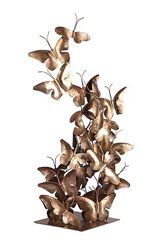 Golden Iron & Brass Butterfly Flight Decor  by H2H