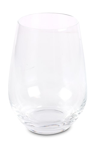 Clear Crystal Stemless Wine Glasses (Set of 6) by H2H
