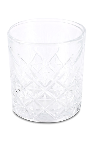 Clear Crystal Engraved Glasses (Set of 6) by H2H