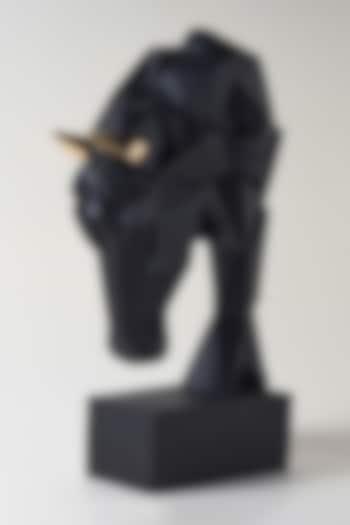 Black Fiber Horse Head Sculpture by H2H