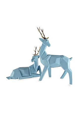 Blue Fiber Deer Antlers (Set of 2) by H2H