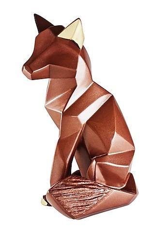 Brown Fiber Fox Sculpture by H2H