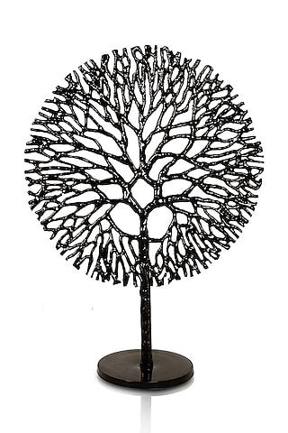 Black Cast Metal Tree Sculpture by H2H