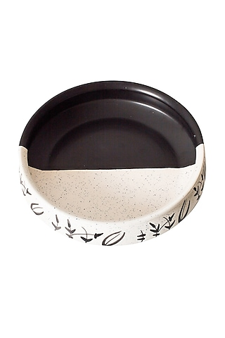 Black & White Ceramic Handcrafted Bowl by H2H