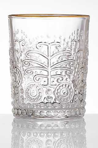 Gold Rimmed Glasses With Pattern (Set of 2) by H2H