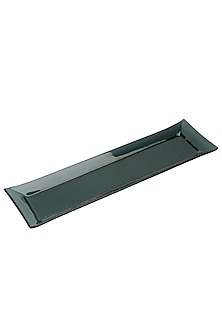 Black Glass Serving Platter by H2H
