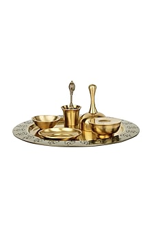 Gold Aarti Thali Set by H2H