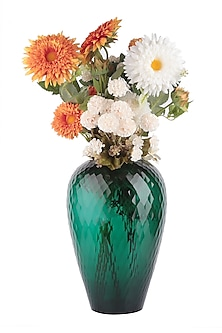 Green Bulb Glass Vase by H2H