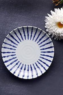 White & Blue Ceramic Neelambar Bowl by H2H