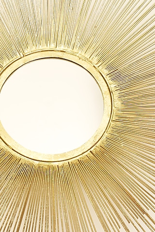 Gold Sun Wall Mirror by H2H