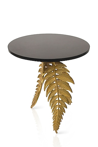 Black & Gold Side Table by H2H