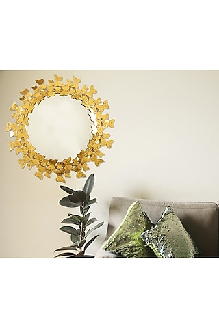 Gold Dual Tone Handcrafted Mirror by H2H