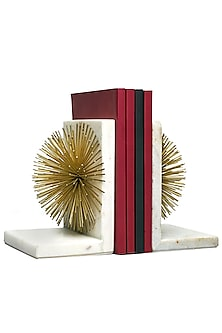 White & Gold Spiked Bookend by H2H