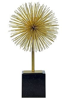 Black & Gold Spiked Sculpture by H2H