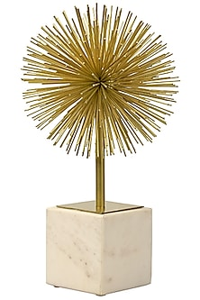 White & Gold Spiked Sculpture by H2H