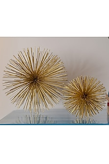 Golden Spiked Sculptures (Set of 3) by H2H