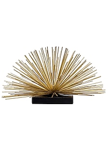Black & Gold Metal Spiked Sculpture by H2H