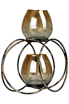 Antique Intertwined Glass Candle Holder by H2H