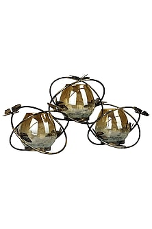 Antique Butterfly Glass Candle Holder by H2H