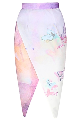 Digital print fairy tale skirt by Hema Kaul