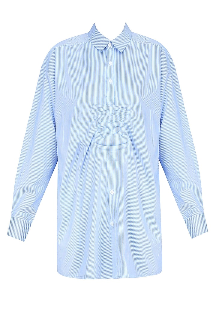 Gorilla Blue Striped Shirt by Huemn Project