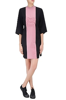 Pink and Black Panelled Gorilla Dress by Huemn Project