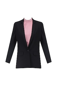 Black Fron Open Blazer by Huemn Project